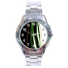 Colorful Lines Harmony Stainless Steel Analogue Watch by Valentinaart
