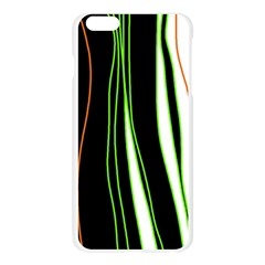 Colorful lines harmony Apple Seamless iPhone 6 Plus/6S Plus Case (Transparent) by Valentinaart