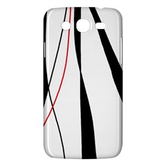 Red, White And Black Elegant Design Samsung Galaxy Mega 5 8 I9152 Hardshell Case  by Valentinaart