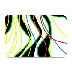Colorful Lines   Abstract Art Plate Mats by Valentinaart