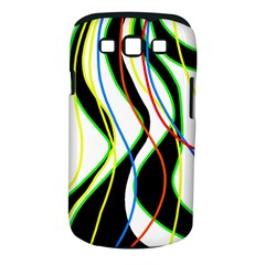 Colorful Lines   Abstract Art Samsung Galaxy S Iii Classic Hardshell Case (pc+silicone) by Valentinaart
