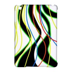 Colorful Lines   Abstract Art Apple Ipad Mini Hardshell Case (compatible With Smart Cover) by Valentinaart