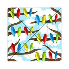 Parrots Flock Acrylic Tangram Puzzle (6  X 6 ) by Valentinaart