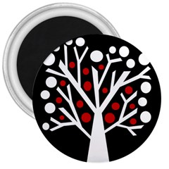 Simply Decorative Tree 3  Magnets by Valentinaart