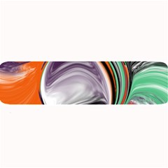 Abstract Orb In Orange, Purple, Green, And Black Large Bar Mats by theunrulyartist
