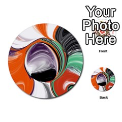 Abstract Orb In Orange, Purple, Green, And Black Multi Purpose Cards (round)  by theunrulyartist