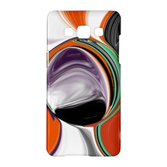 Abstract Orb In Orange, Purple, Green, And Black Samsung Galaxy A5 Hardshell Case  by theunrulyartist