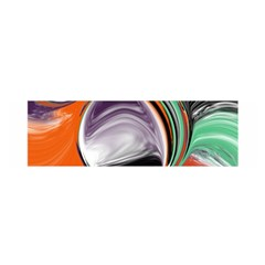 Abstract Orb In Orange, Purple, Green, And Black Satin Scarf (oblong) by theunrulyartist