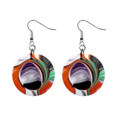 Abstract Orb Mini Button Earrings by theunrulyartist