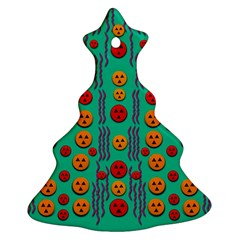 Pumkins Dancing In The Season Pop Art Christmas Tree Ornament (2 Sides) by pepitasart