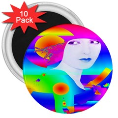 Abstract Color Dream 3  Magnets (10 Pack)  by icarusismartdesigns