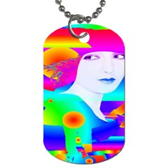 Abstract Color Dream Dog Tag (two Sides) by icarusismartdesigns