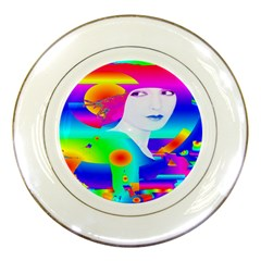 Abstract Color Dream Porcelain Plates by icarusismartdesigns