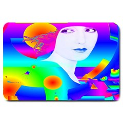 Abstract Color Dream Large Doormat  by icarusismartdesigns