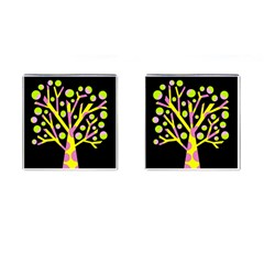 Simple Colorful Tree Cufflinks (square) by Valentinaart