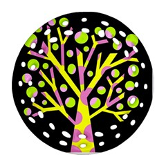 Simple Colorful Tree Ornament (round Filigree)  by Valentinaart