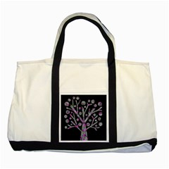 Purple Magical Tree Two Tone Tote Bag by Valentinaart