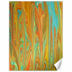 Beautiful Abstract in Orange, Aqua, Gold Canvas 12  x 16   by theunrulyartist