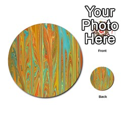 Beautiful Abstract In Orange, Aqua, Gold Multi Purpose Cards (round)  by theunrulyartist