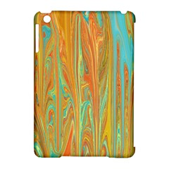 Beautiful Abstract In Orange, Aqua, Gold Apple Ipad Mini Hardshell Case (compatible With Smart Cover) by theunrulyartist