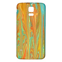 Beautiful Abstract In Orange, Aqua, Gold Samsung Galaxy S5 Back Case (white) by theunrulyartist