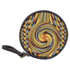 Gold Blue And Red Swirl Pattern Classic 20 Cd Wallets by theunrulyartist