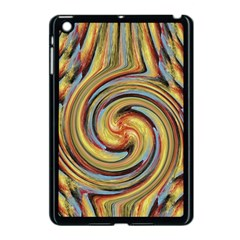 Gold Blue And Red Swirl Pattern Apple Ipad Mini Case (black) by theunrulyartist