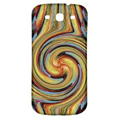 Gold Blue And Red Swirl Pattern Samsung Galaxy S3 S Iii Classic Hardshell Back Case by theunrulyartist