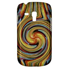 Gold Blue And Red Swirl Pattern Samsung Galaxy S3 Mini I8190 Hardshell Case by theunrulyartist