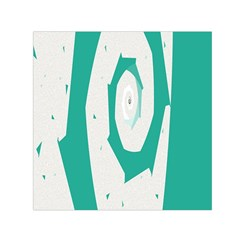 Aqua Blue And White Swirl Design Small Satin Scarf (square) by theunrulyartist