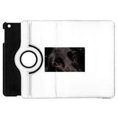 Black German Shepherd Eyes Apple iPad Mini Flip 360 Case by TailWags
