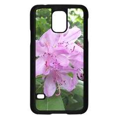 Purple Rhododendron Flower Samsung Galaxy S5 Case (black) by picsaspassion