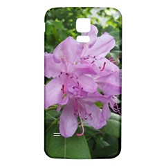 Purple Rhododendron Flower Samsung Galaxy S5 Back Case (white) by picsaspassion