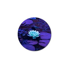 Lotus Flower Magical Colors Purple Blue Turquoise Golf Ball Marker by yoursparklingshop