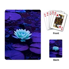 Lotus Flower Magical Colors Purple Blue Turquoise Playing Card by yoursparklingshop