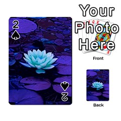 Lotus Flower Magical Colors Purple Blue Turquoise Playing Cards 54 Designs  by yoursparklingshop