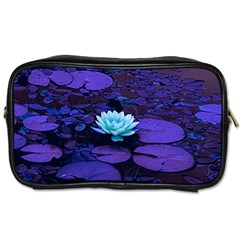 Lotus Flower Magical Colors Purple Blue Turquoise Toiletries Bags 2 Side by yoursparklingshop