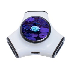 Lotus Flower Magical Colors Purple Blue Turquoise 3 Port Usb Hub by yoursparklingshop