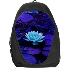 Lotus Flower Magical Colors Purple Blue Turquoise Backpack Bag by yoursparklingshop