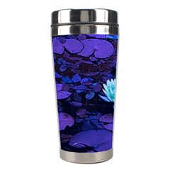 Lotus Flower Magical Colors Purple Blue Turquoise Stainless Steel Travel Tumblers by yoursparklingshop