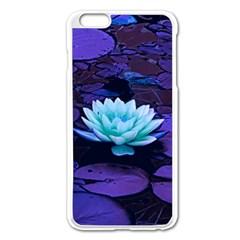 Lotus Flower Magical Colors Purple Blue Turquoise Apple Iphone 6 Plus/6s Plus Enamel White Case by yoursparklingshop