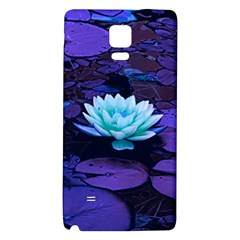 Lotus Flower Magical Colors Purple Blue Turquoise Galaxy Note 4 Back Case by yoursparklingshop