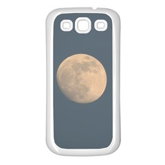 The Moon And Blue Sky Samsung Galaxy S3 Back Case (white) by picsaspassion
