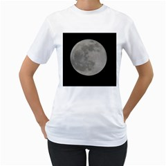 Close To The Full Moon Women s T Shirt (white)  by picsaspassion