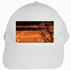 Tree Branches And Sunset White Cap by picsaspassion