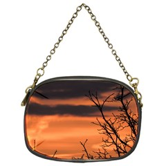 Tree Branches And Sunset Chain Purses (one Side)  by picsaspassion