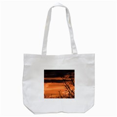 Tree Branches And Sunset Tote Bag (white) by picsaspassion