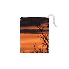 Tree Branches And Sunset Drawstring Pouches (xs)  by picsaspassion