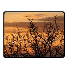 Colorful Sunset Double Sided Fleece Blanket (small)  by picsaspassion