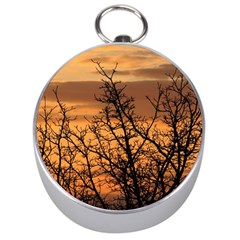 Colorful Sunset Silver Compasses by picsaspassion